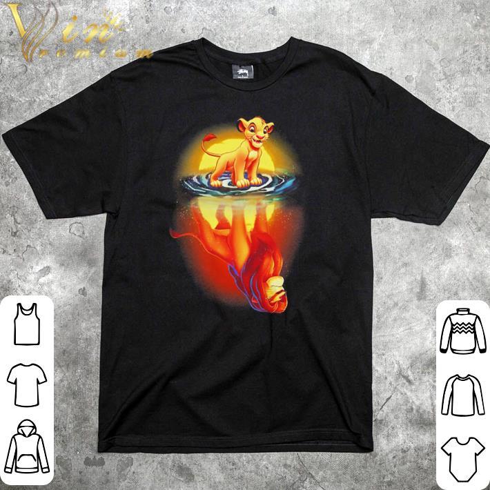 Pretty Mufasa In Simba's Reflection Lion King shirt