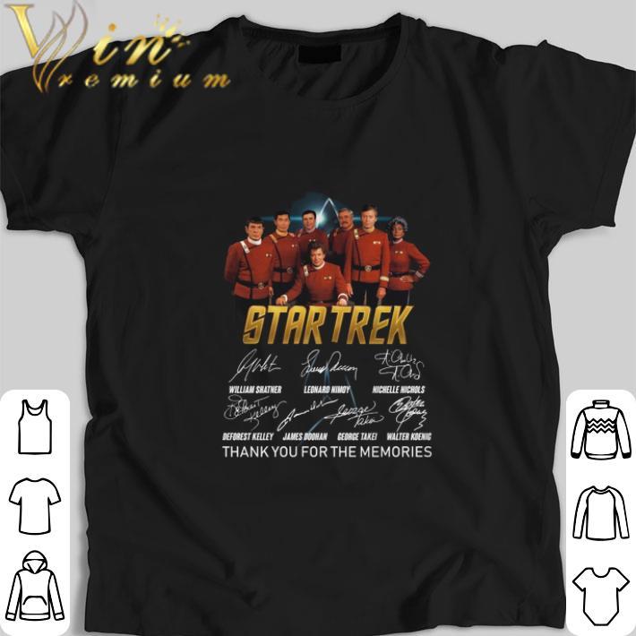 Pretty Star Trek signatures thank you for the memories shirt