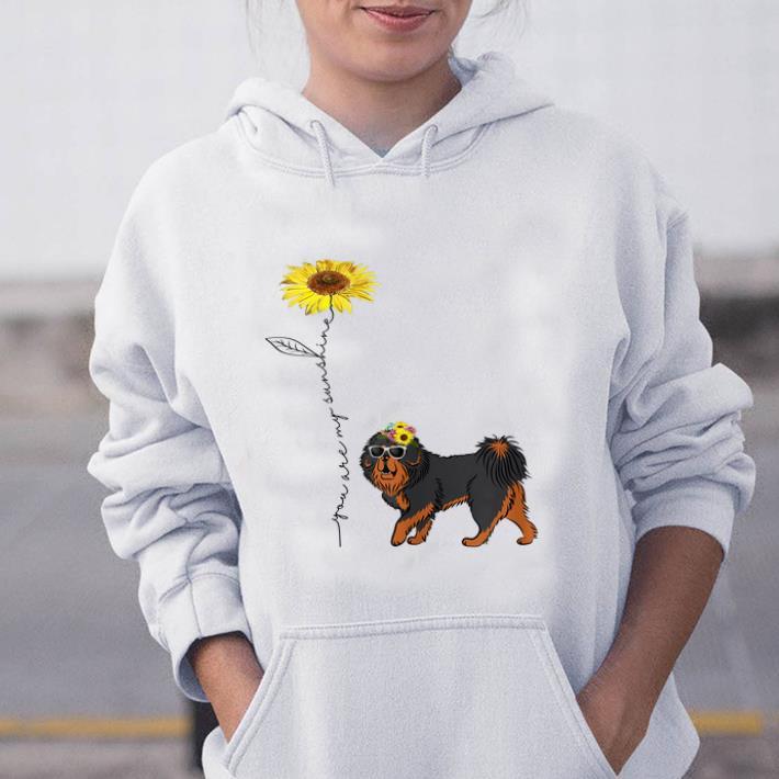 Pretty Sunflower You Are My Sunshine Tibetan Mastiff shirt