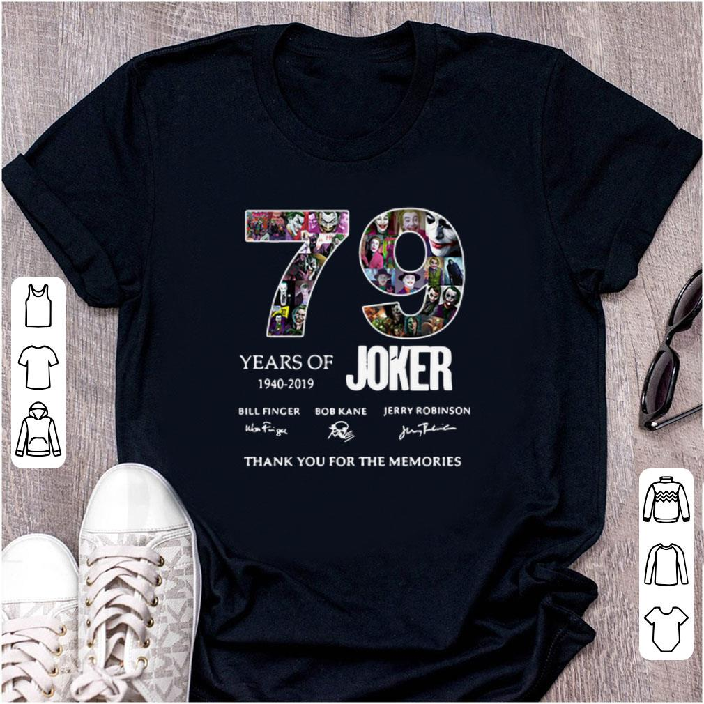Top 79 Years Of Joker Thank You For The Memories Signature shirt