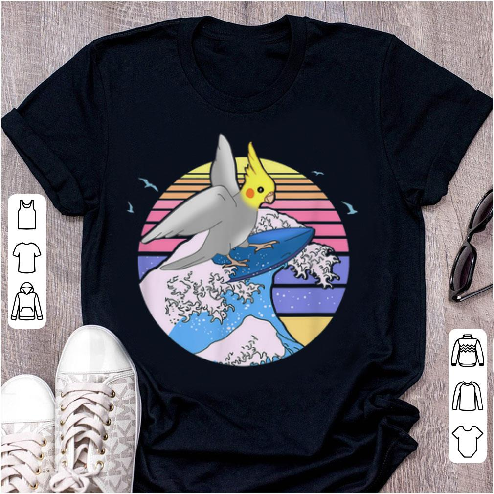Top Aesthetic Surfing Cockatiel Doodle Cute Birb Parrot shirt