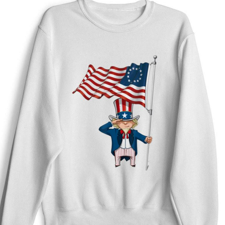 Top Betsy Ross Flag Uncle Sam To Salute The Flag shirt