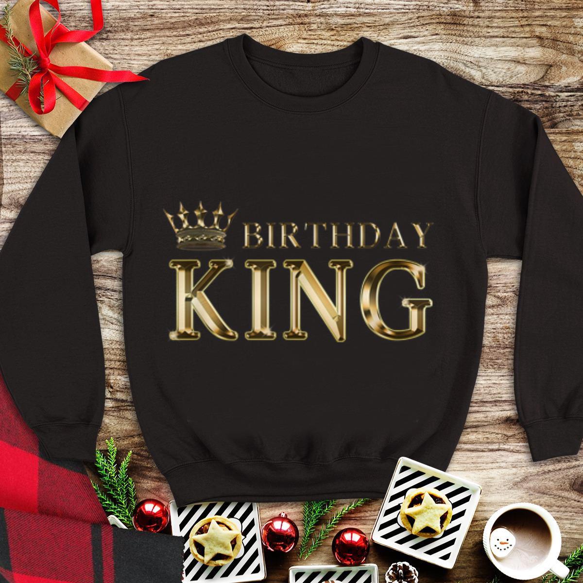 Top Birthday King Gold Crown shirt
