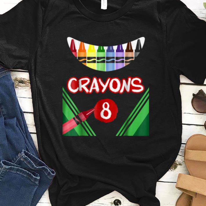 Top Crayons 8 Scary Crayons Box Monster shirt