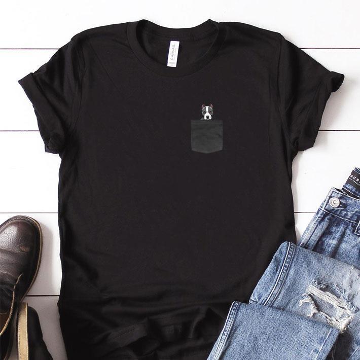 Top Great Dane in pocket shirt