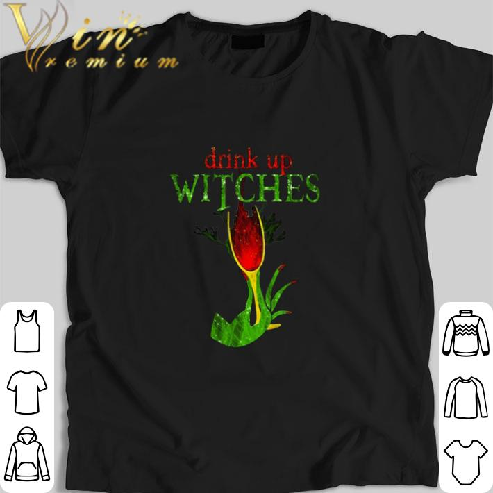 Top Grinch drink up witches shirt