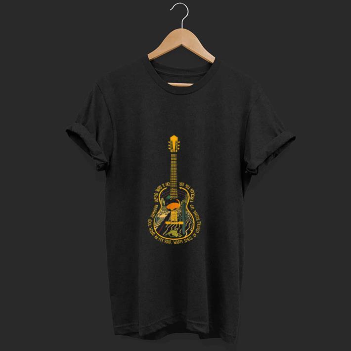 Top Guitar Hotel california On A Dark Desert Highway shirt