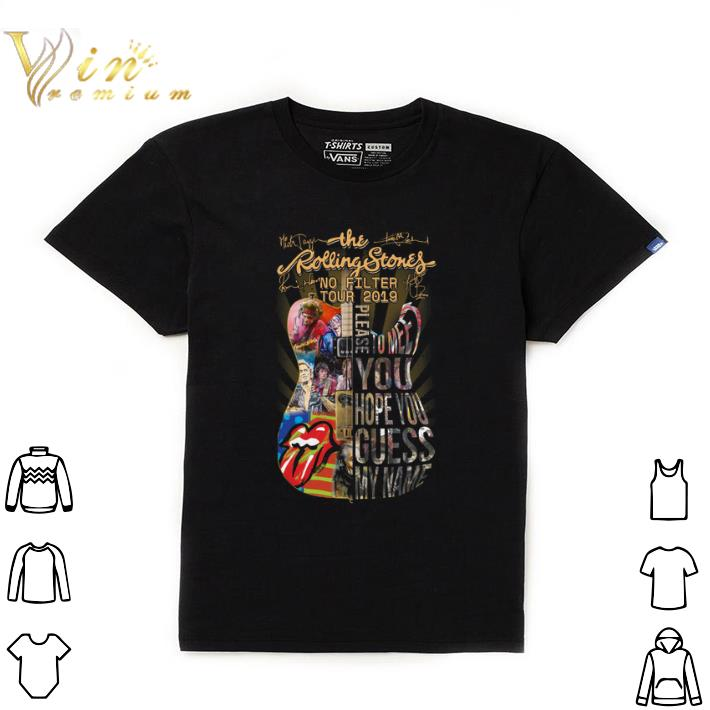 Top Guitar The Rolling Stones no filter tour 2019 signatures hoodie shirt
