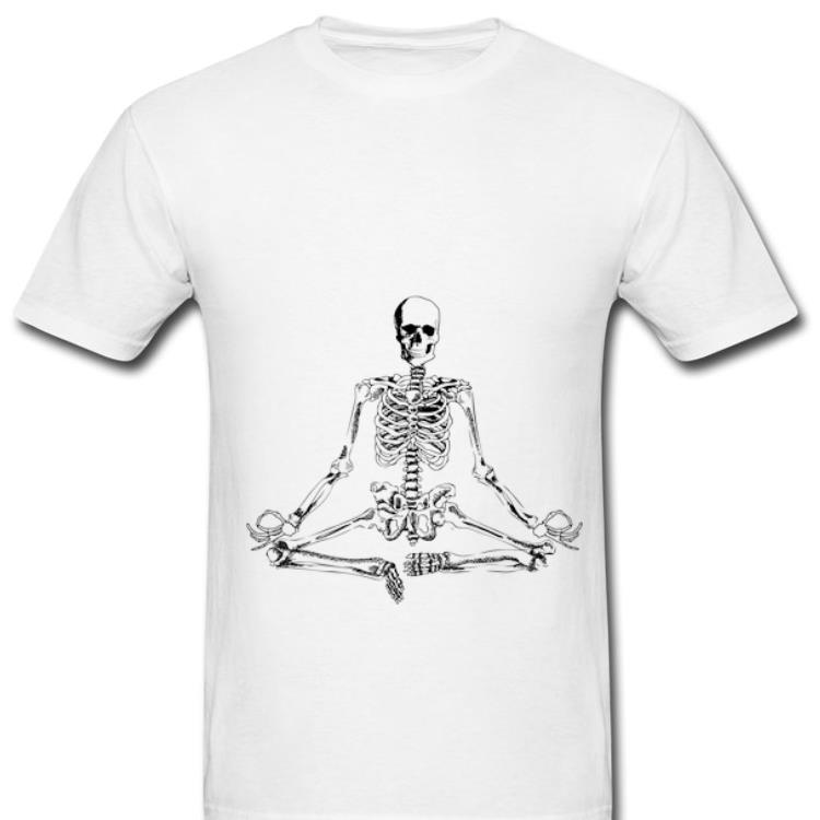 Top Halloween Meditating Skeleton Yoga shirt