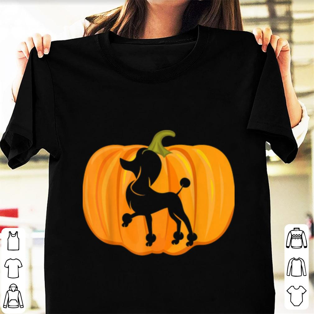 Top Halloween Poodle Pumpkin Women Dog Owners Gifts shirt