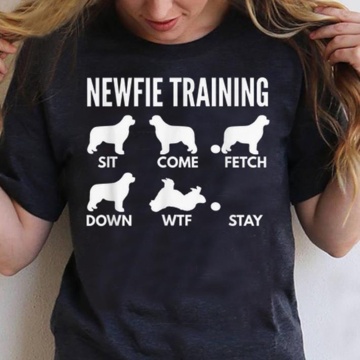 Top Newfie Training Newfoundland Dog Tricks shirt