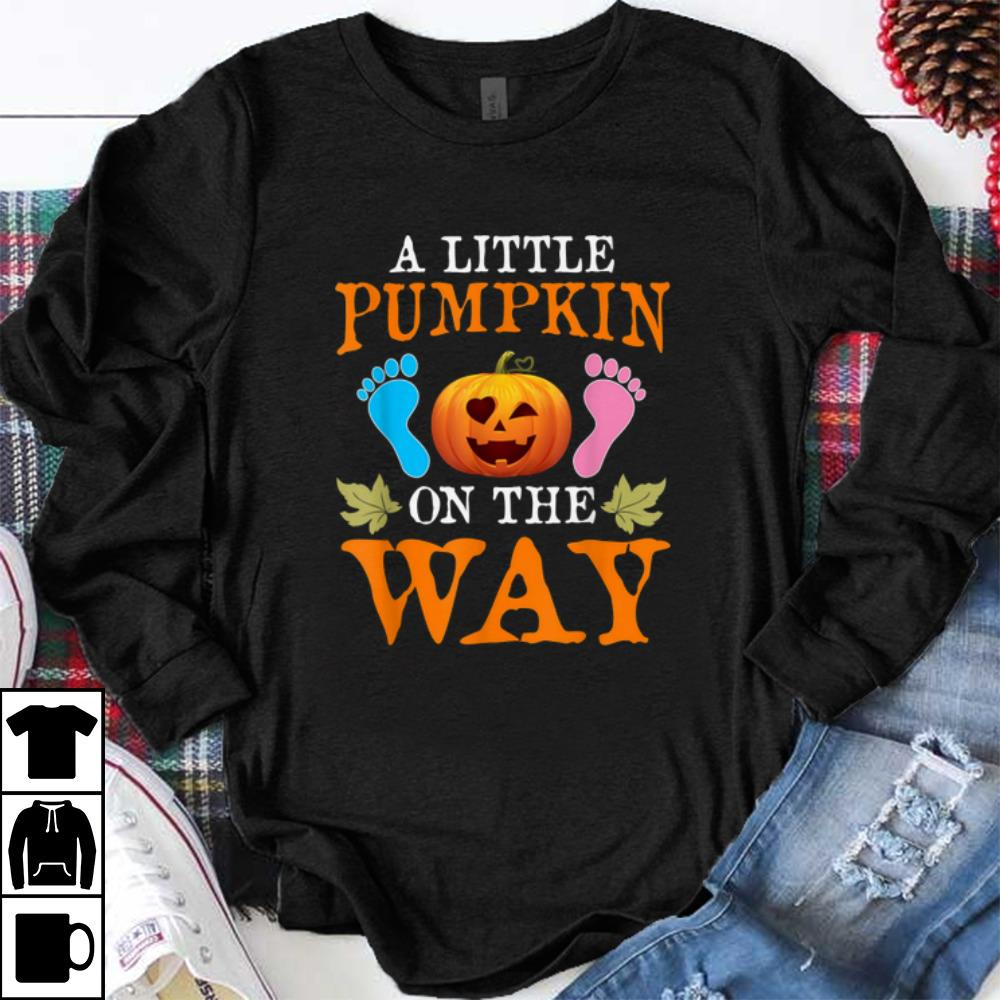 Top Pregnancy Announcement Pumpkin Halloween Party Costume Gift shirt