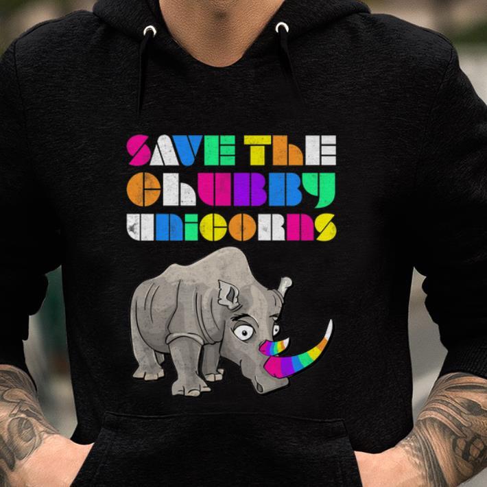 Top Save The Chubby Unicorns Rainbow shirt