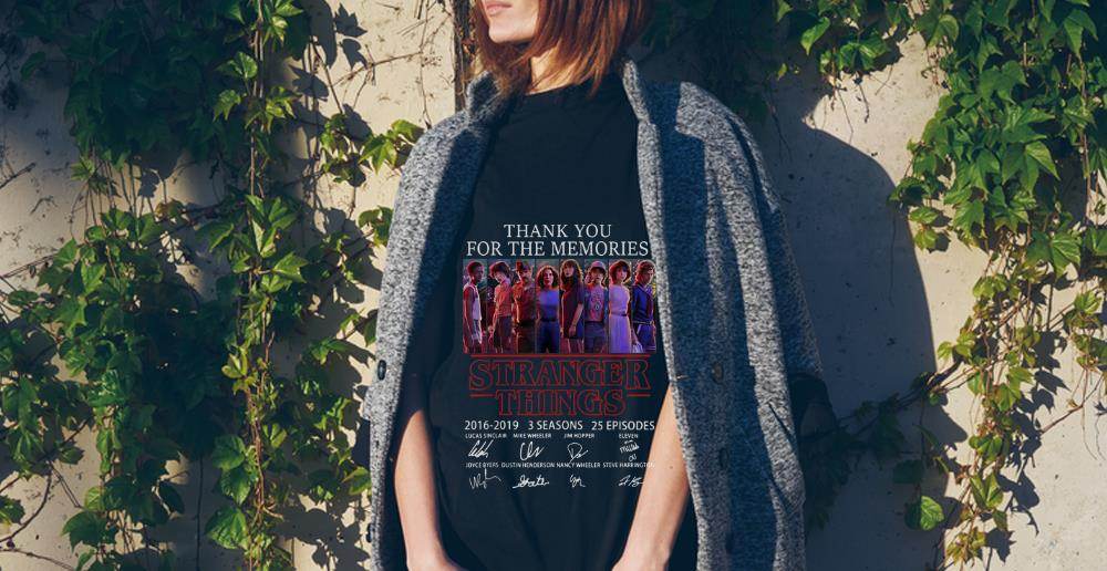 Top Thank You For The Memories Stranger Things 3 Signature Character shirt