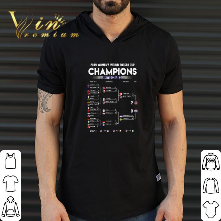 United States List 2019 Women's World Soccer Cup Champions shirt