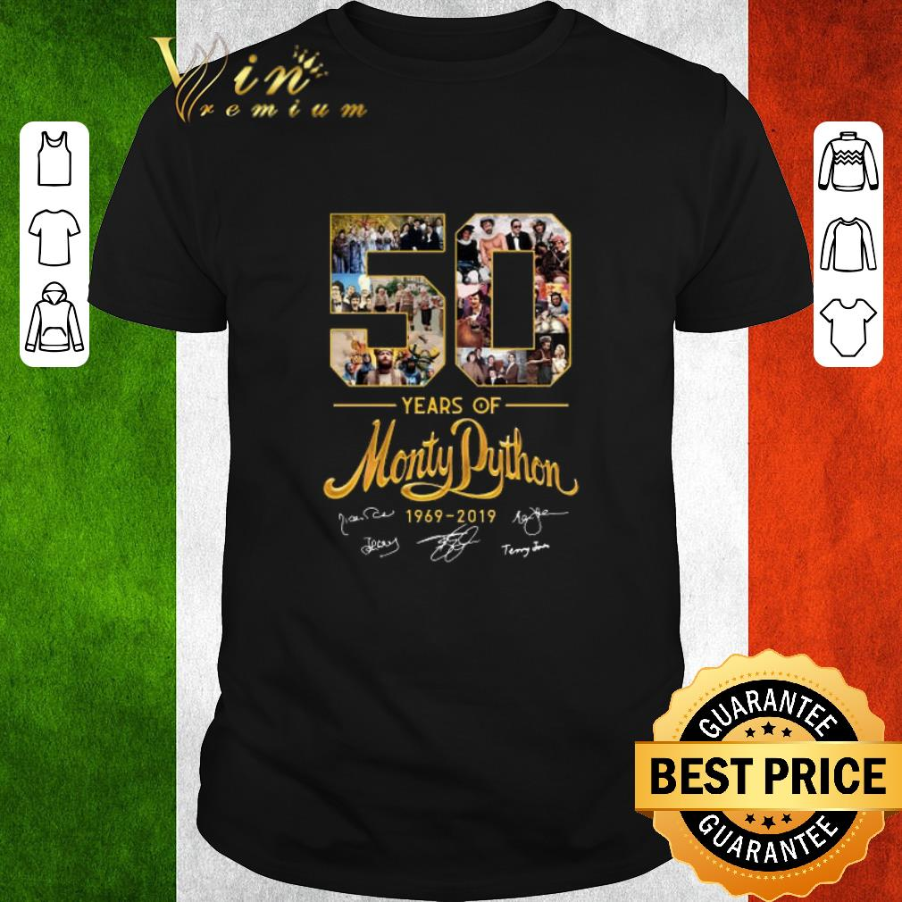 Awesome 50 years of Monty Python 1969-2019 signature shirt