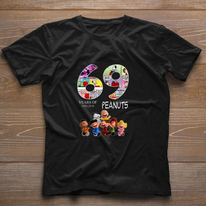 Awesome 69 years of Peanuts 1950-2019 shirt