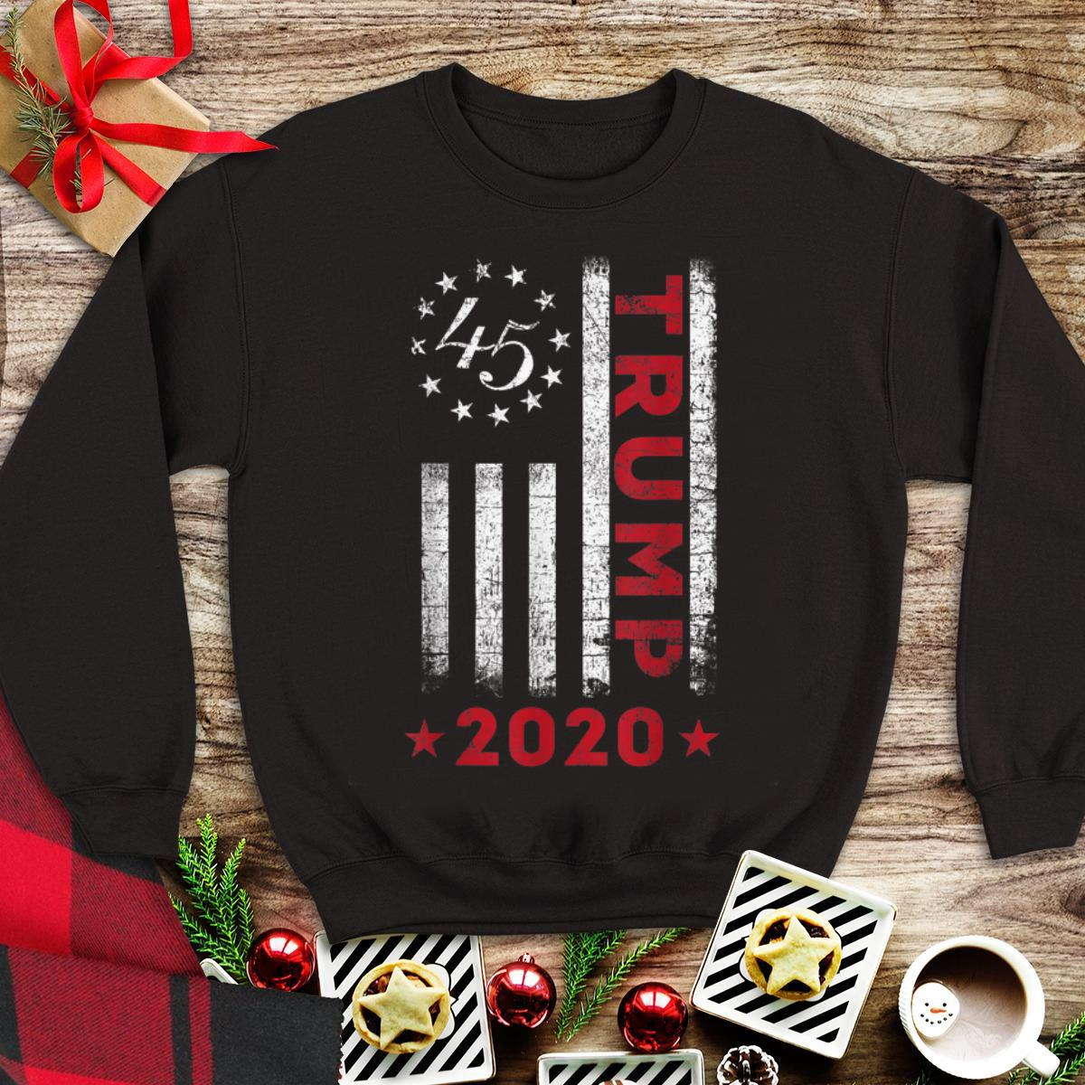 Awesome American Flag Trump 2020 shirt