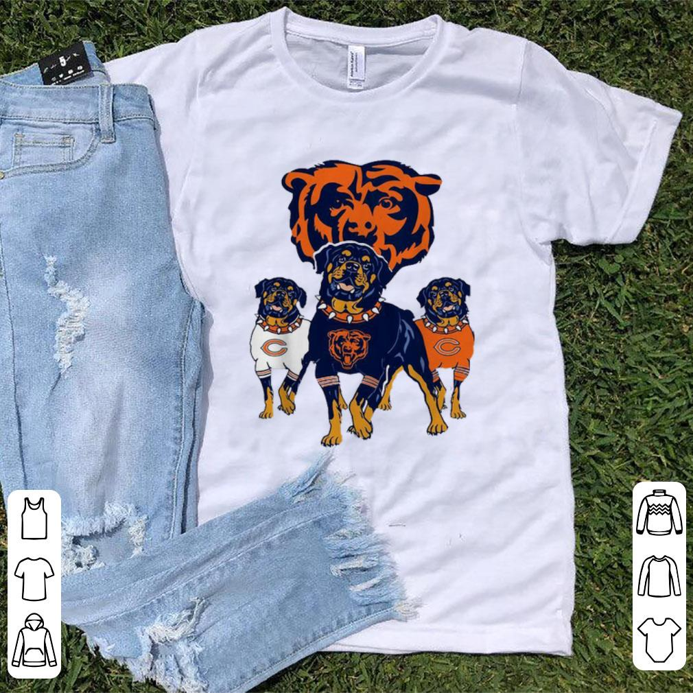 new concept 2eb96 5438a Awesome Chicago Bears NFL Rottweiler Dog shirt