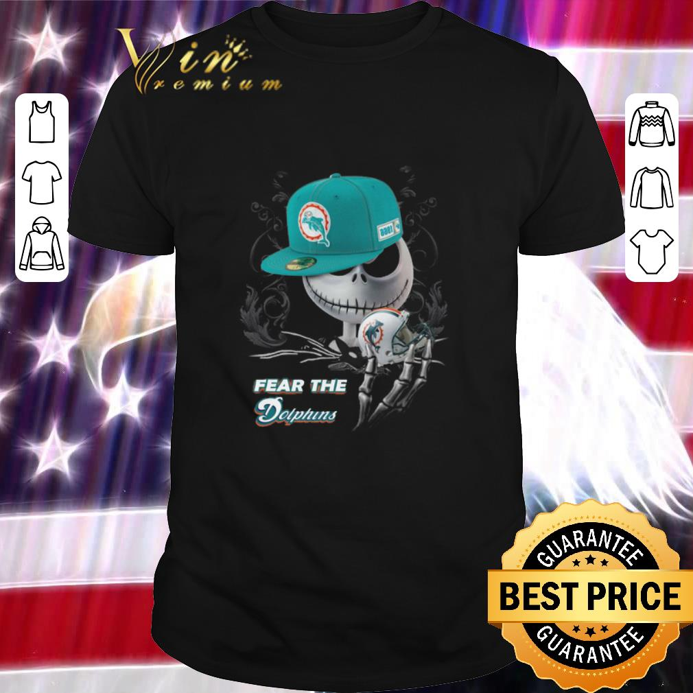 Awesome Jack Skellington fear the Miami Dolphins shirt