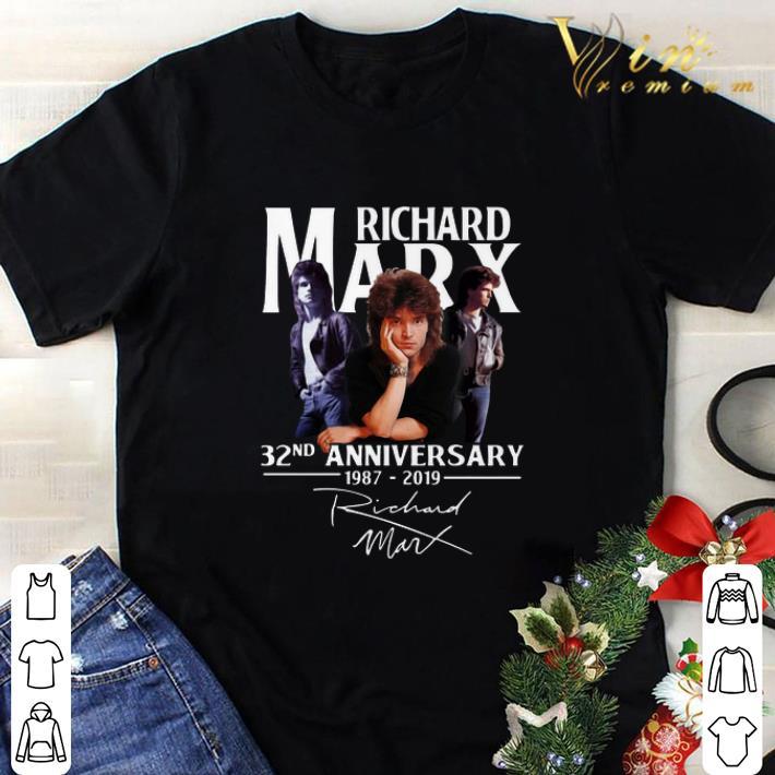 Awesome Richard Marx 32nd anniversary 1987-2019 signature shirt
