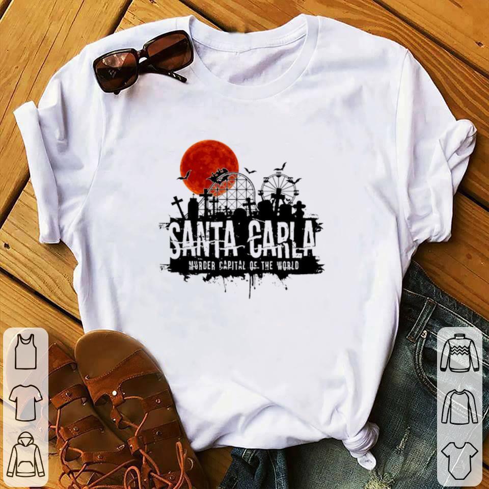 Awesome Santa Carla Murder Capital Of The World Sunset Halloween shirt