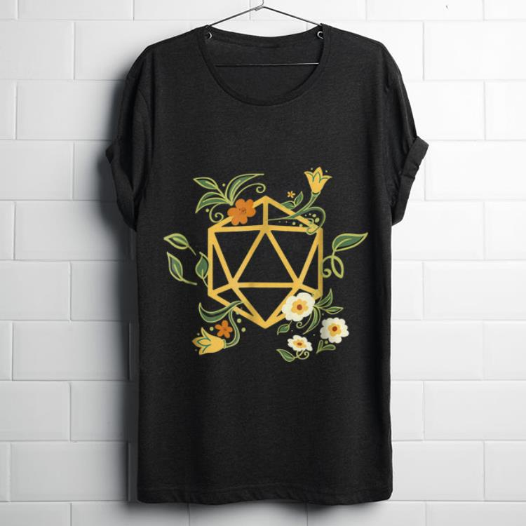 Funny Geeky Polyhedral D20 Dice Set Plant Nerdy shirt