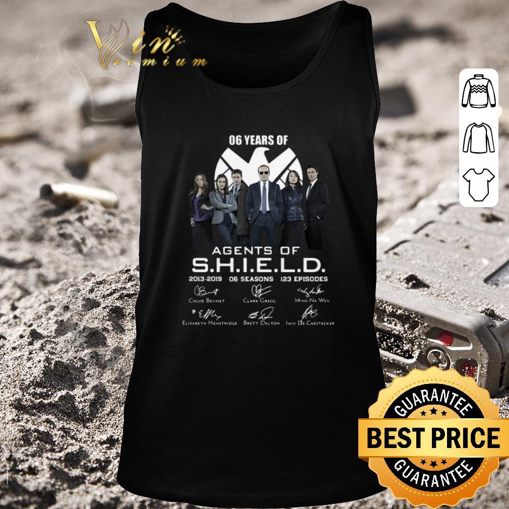 Hot 06 years of Agents Of SHIELD 2013-2019 06 seasons signatures shirt