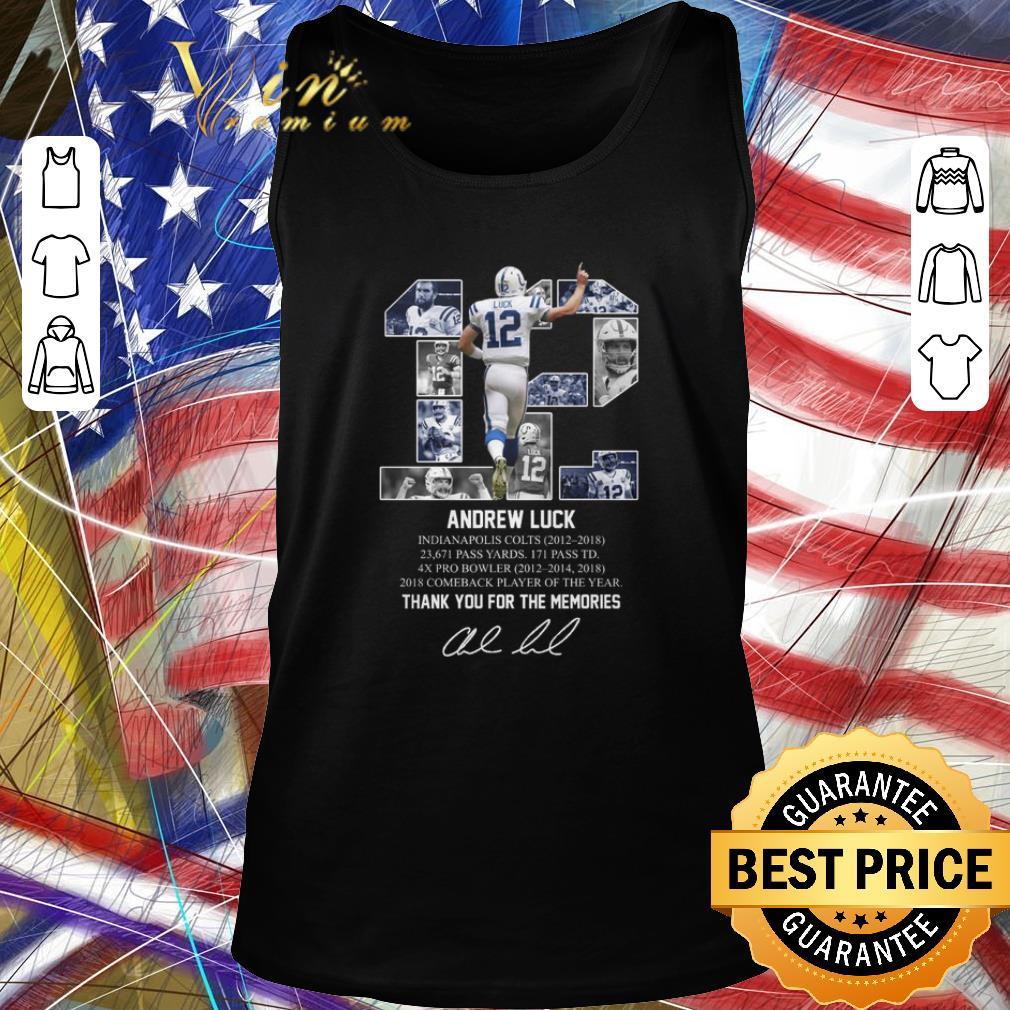 Hot 12 Andrew Luck Indianapolis Colts thank you for the memories shirt