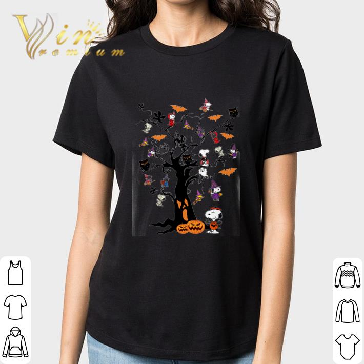 Hot Halloween Snoopy Woodstock Owl Bats Ghost Boo On The Tree Shirt 3 1.jpg