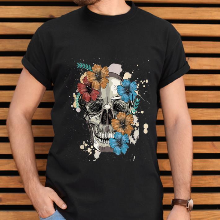 Hot Skull and Flowers shirt