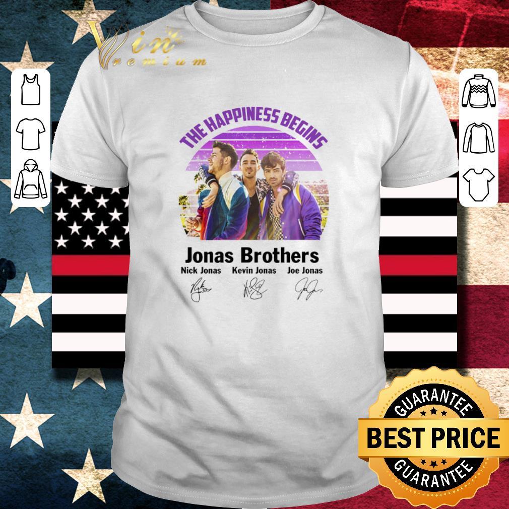 Hot The Happiness Begins Jonas Brothers Signatures shirt