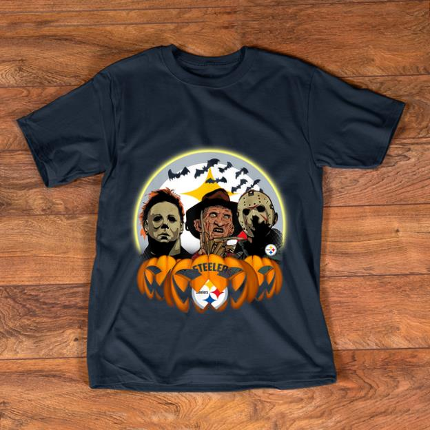Nice Halloween Pittsburgh Steelers Jason Leatherface Freddy shirt