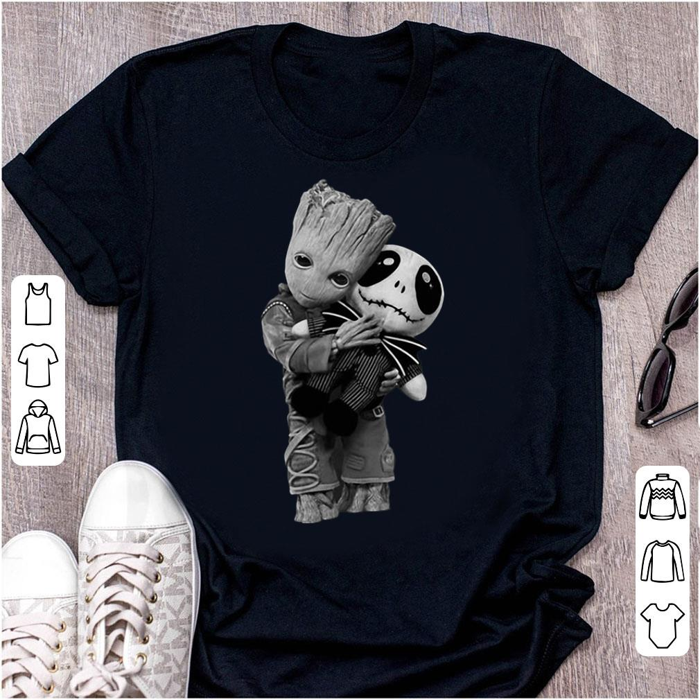 Official Baby Groot Hugs Jack Skellington Halloween shirt