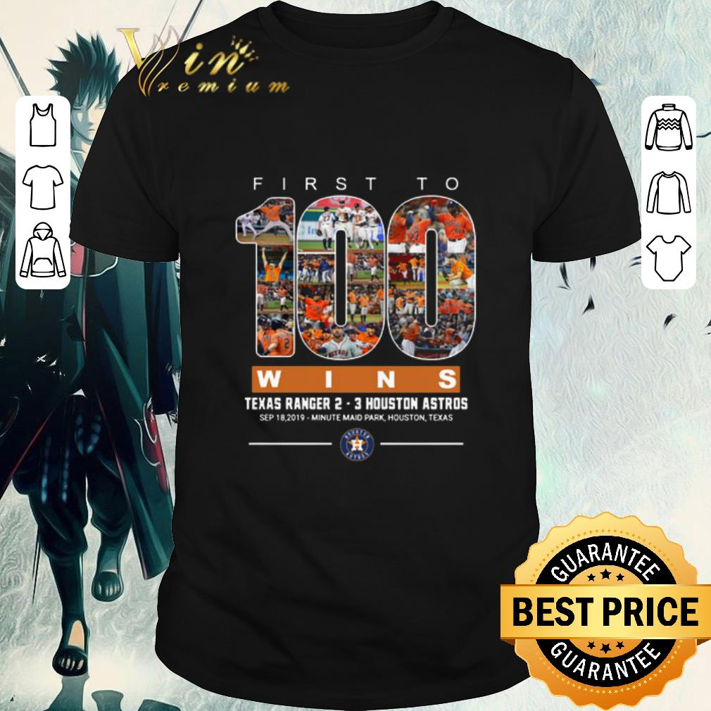 Official First to 100 wins Texas Ranger Houston Astros shirt