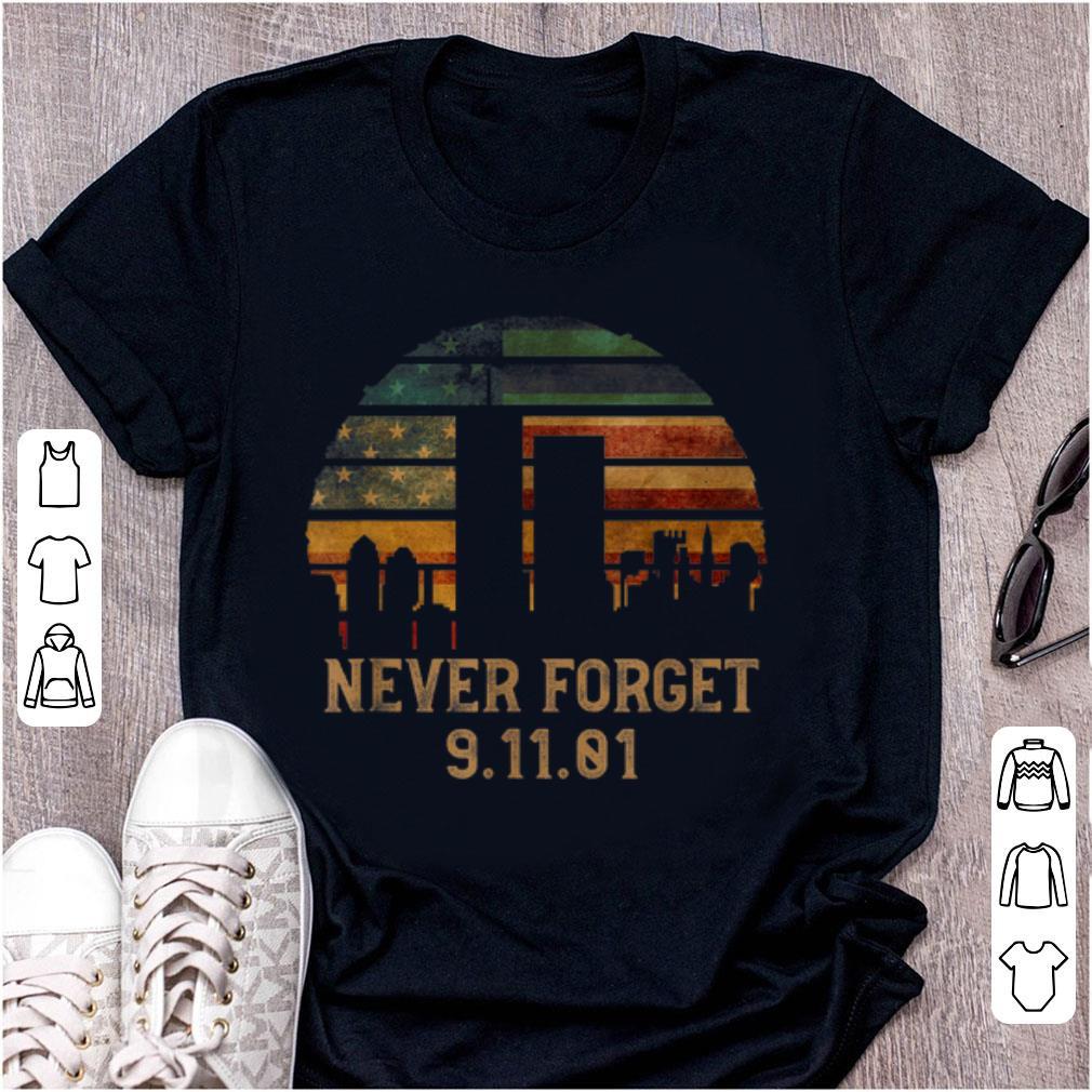 Official Never forget Patriotic 911 American Flag Vintage shirt
