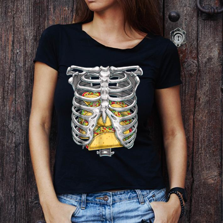 Official Skeleton Rib Cage Halloween Taco Skeleton Costume shirt 1 - Official Skeleton Rib Cage Halloween Taco Skeleton Costume shirt