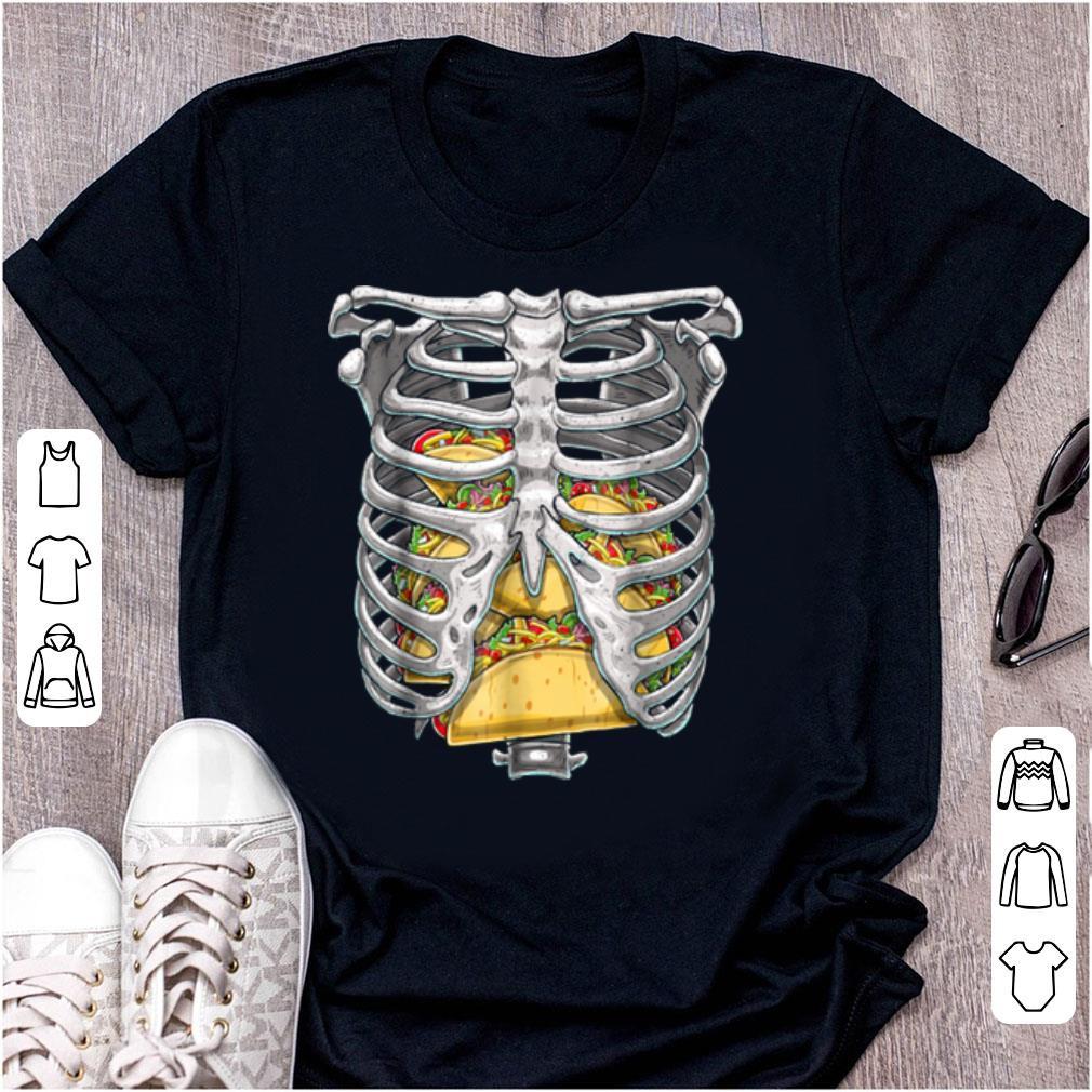 Official Skeleton Rib Cage Halloween Taco Skeleton Costume shirt