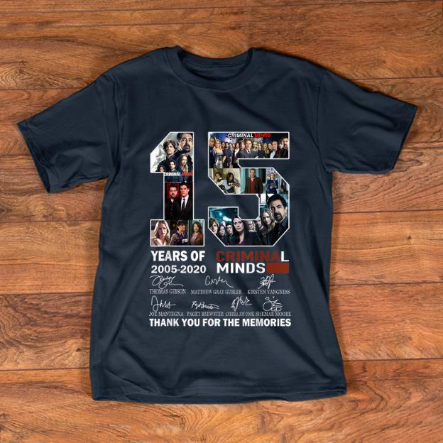 Original 15 Years Of Criminal Minds Thank You For The Memories Signature shirt