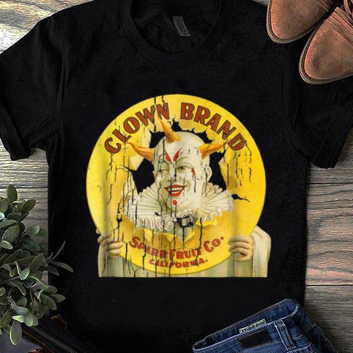 Original Clown Brand Creepy Vintage Advertising Halloween shirt
