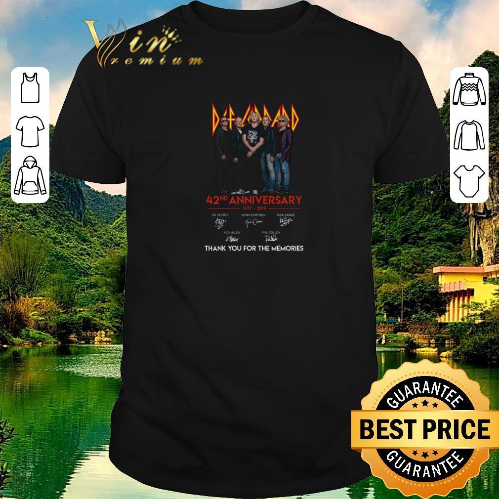Original Def Leppard 42nd anniversary 1977-2019 signatures shirt sweater