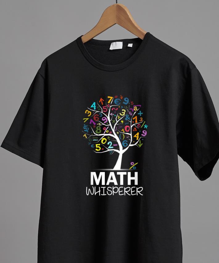 Original Math Whisperer Teacher's Day Math Tree shirt