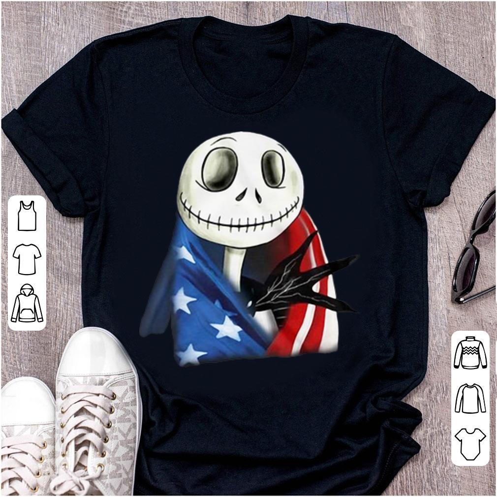 Premium American Flag Jack Skellington shirt