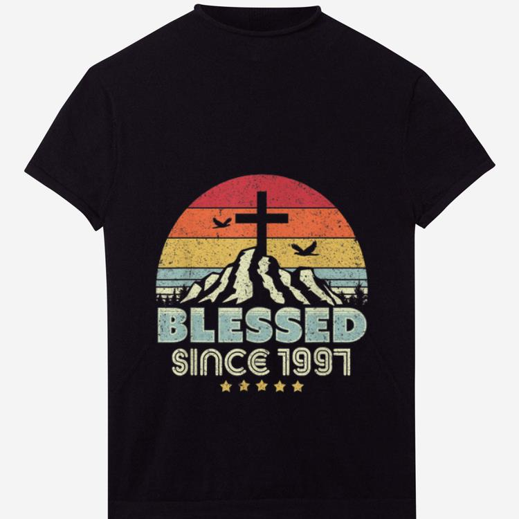 Premium Blessed Since 1997 Holy Cross Vintage shirt