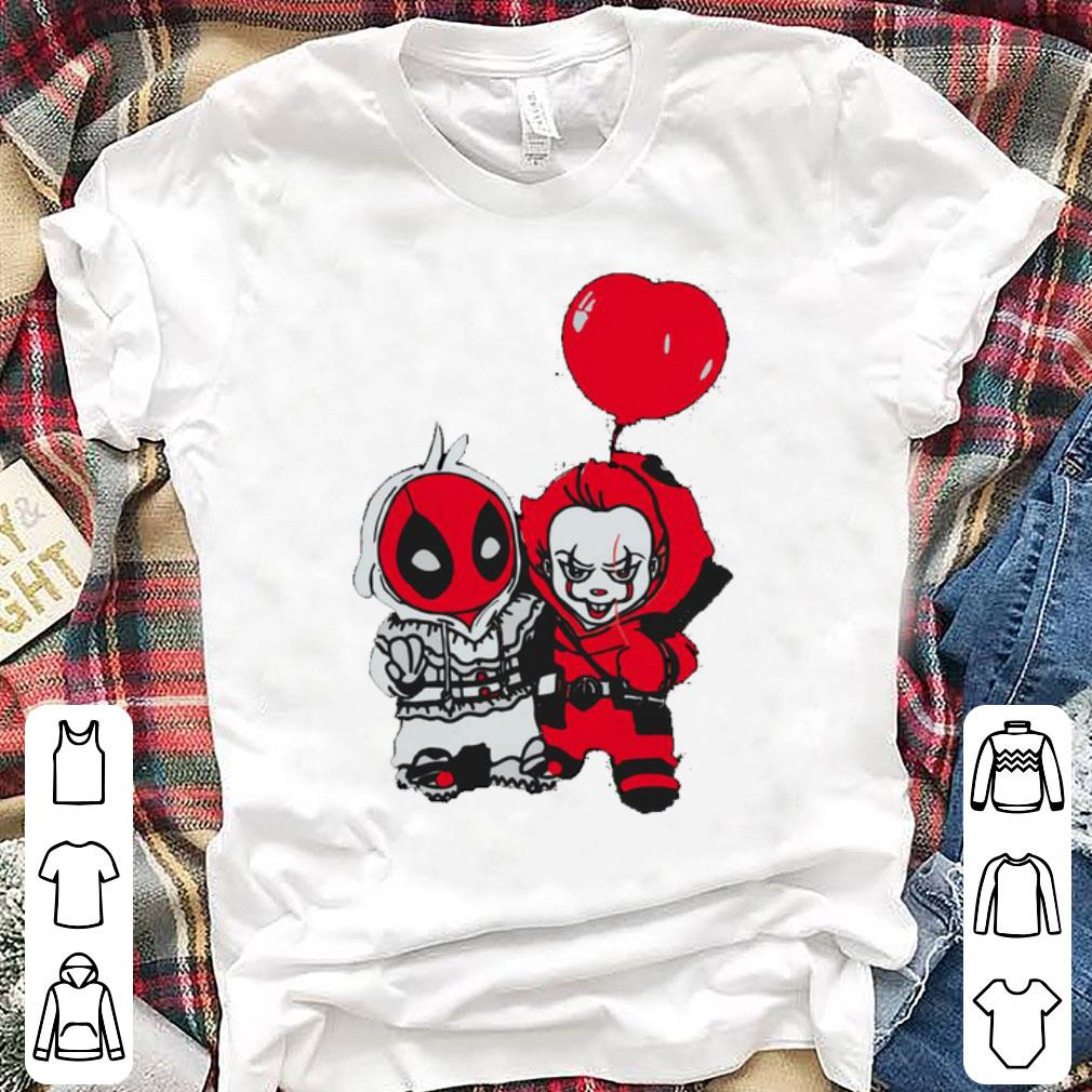 Premium Deadpool And Pennywise With Balloon shirt