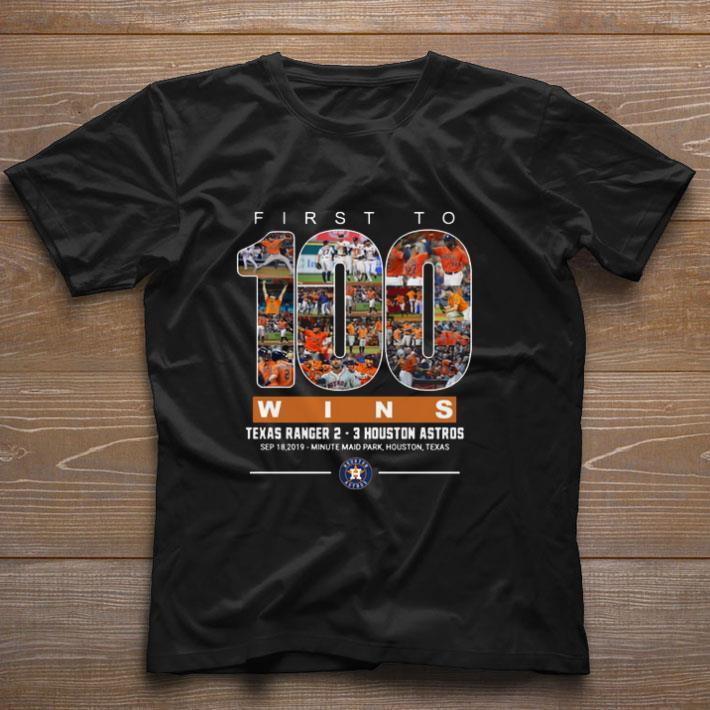 Premium First to 100 wins Texas Ranger Houston Astros shirt