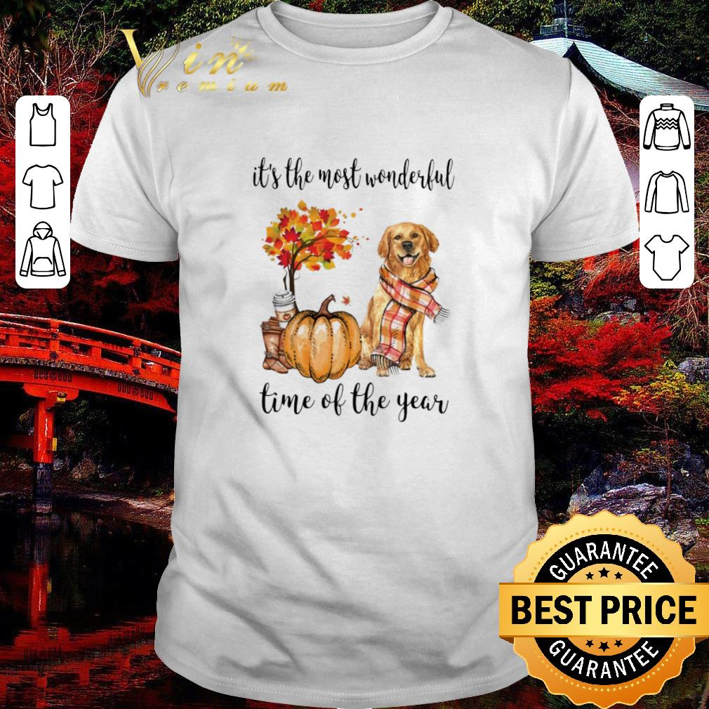 Premium Golden Retriever it's the most wonderful time of the year Autumn shirt