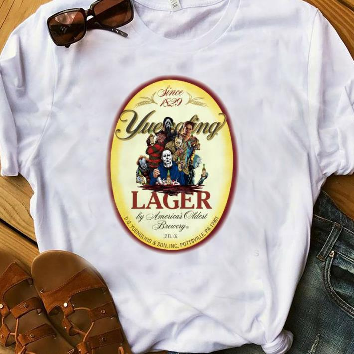 Premium Horror Character Movie Since 1829 Yuengling Lager By America's Oldest Brewery shirt