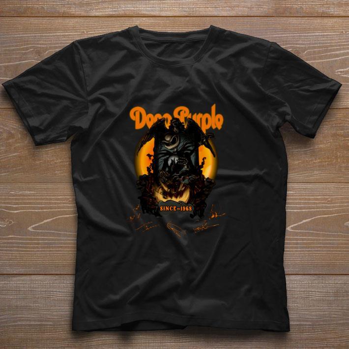 Premium Jack Skellington Deep Purple Pumpkin Since 1968 Signatures shirt