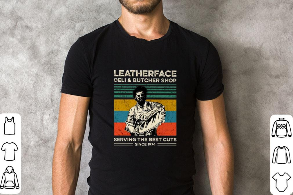 Premium Leatherface deli & butcher shop serving the best cuts vintage shirt